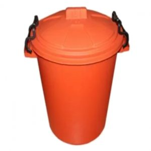 85 Litre Orange Plastic Outdoor Bin