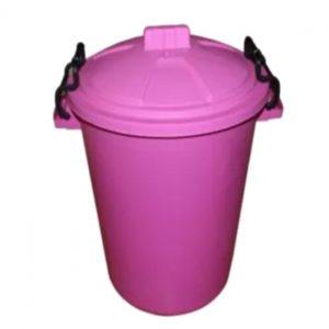 85 Litre Pink Plastic Outdoor Bin