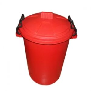 85 Litre Red Plastic Outdoor Bin