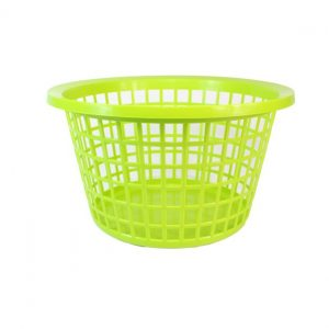Lime Green Round Laundry Basket