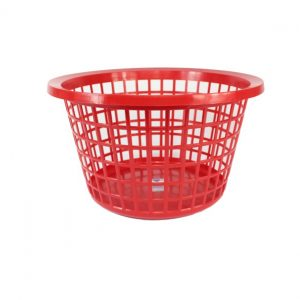 Red Round Laundry Basket