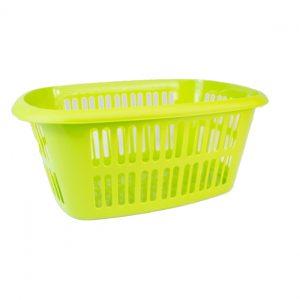 Lime Green Rectangular Laundry Basket
