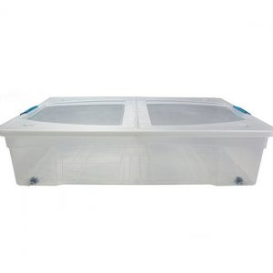80 Litre Underbed Plastic Storage Box Clip & Stack Box With Lid