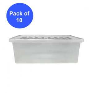 10 x 32 Litre Underbed With Clear Lid (Pack of 10)