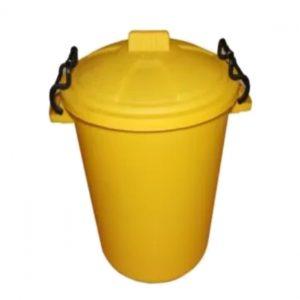 85 Litre Yellow Plastic Outdoor Bin