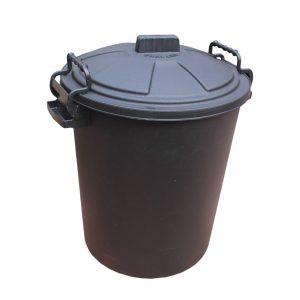 50 Litre Black Plastic Outdoor Bin