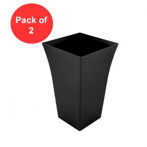 Large Black Milano Planters, Garden Pots (Pack Of 2)