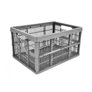 32 Litre Foldable Crate - Silver