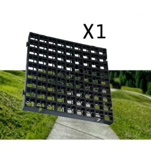 1 x Black Heavy Duty Plastic Grass Grids (0.25 Square Metres)