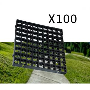 100 x Black Heavy Duty Plastic Greenhouse Pavement Path Driveway Grass Grid (25 Square Metre)
