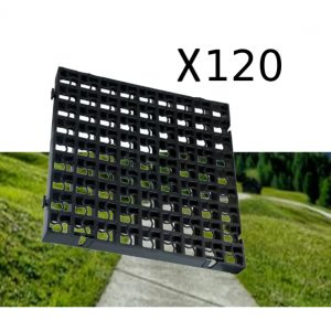 120 x Black Heavy Duty Plastic Greenhouse Pavement Path Driveway Grass Grid (30 Square Metre)