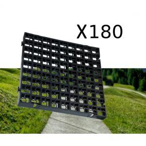 180 x Black Heavy Duty Plastic Greenhouse Pavement Path Driveway Grass Grid (45 Square Metre)