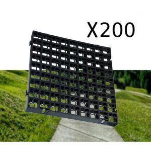 200 x Black Heavy Duty Plastic Greenhouse Pavement Path Driveway Grass Grid (50 Square Metre)