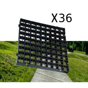 36 x Black Heavy Duty Plastic Greenhouse Pavement Path Driveway Grass Grid (9 Square Metres)