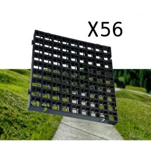 56 x Black Heavy Duty Plastic Greenhouse Pavement Path Driveway Grass Grid (14 Square Metres)