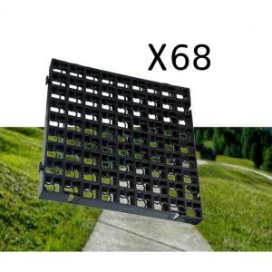 68 x Black Heavy Duty Plastic Greenhouse Pavement Path Driveway Grass Grid (17 Square Metres)