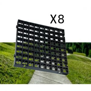 8 x Black Heavy Duty Plastic Greenhouse Pavement Path Driveway Grass Grid (2 Square Metres)
