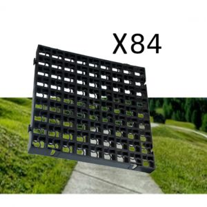 84 x Black Heavy Duty Plastic Greenhouse Pavement Path Driveway Grass Grid (21 Square Metre)