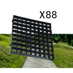 88 x Black Heavy Duty Plastic Greenhouse Pavement Path Driveway Grass Grid (22 Square Metre)