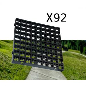92 x Black Heavy Duty Plastic Greenhouse Pavement Path Driveway Grass Grid (23 Square Metre)