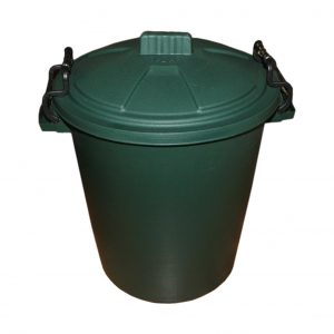 50 Litre Green Plastic Outdoor Bin