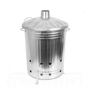 90 Litre Galvanised Incinerator - Burning Fire Bin