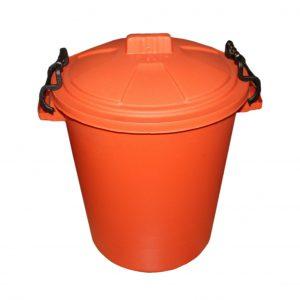 50 Litre Orange Plastic Outdoor Bin