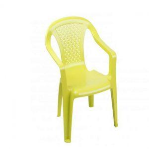 Plastic Children's Chair Green