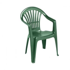 Plastic Low Back Chair - Green