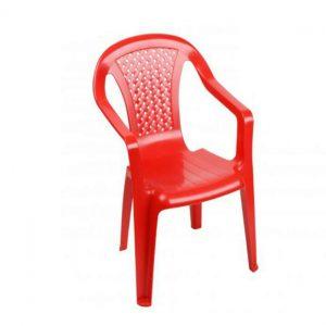 Plastic Children's Chair Red
