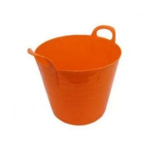 75 Litre Orange Plastic Flexi Tub