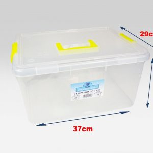 10 x 15 Litre Clip & Stack Box With Lids (Pack of 10)