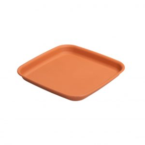 (34.5 cm) Square Plant Pot Saucer - Terracotta / Graphite