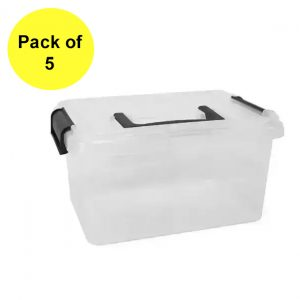 5 x 15 Litre Clip & Stack With Lid (Pack of 5)