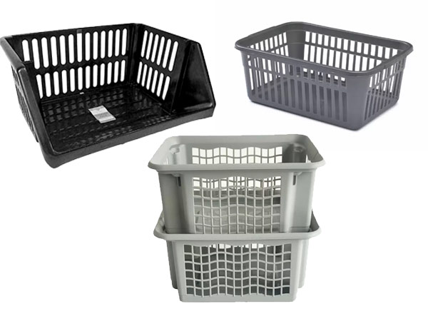 plastic storage baskets school