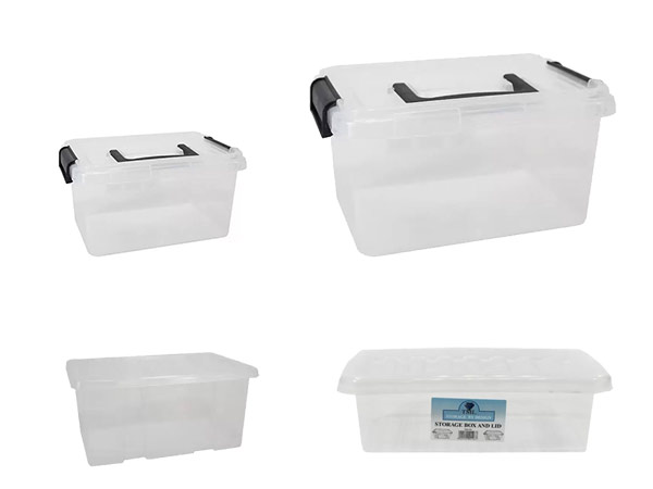 small clear plastic storage boxes